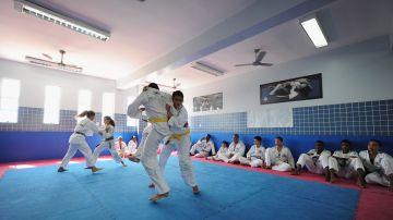 Imagen de archivo de una clase de judo