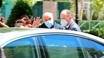 Captura de vídeo que muestra al productor José Luis Moreno a su salida de la sede de la Audiencia Nacional.