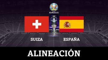 Alineación de España hoy ante Suiza en el partido de la Eurocopa 2020