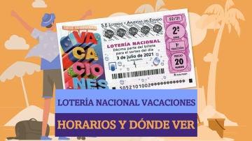 Horarios y dónde ver el Sorteo Extraordinario de la Lotería Nacional de Vacaciones 2021