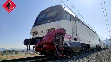 Tren implicado en el accidente del paso a nivel de Novelda.