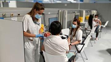 Imagen de vacunación en España
