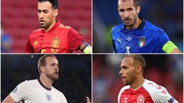 España vs Italia e Inglaterra vs Dinamarca