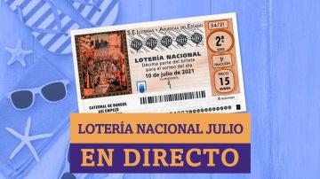 Sorteo Extraordinario Lotería Nacional de Julio 2021: resultados de hoy, sábado 10 de julio, en directo