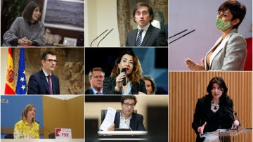 Los rostros que protagonizan el renovado Gobierno de coalición de Pedro Sánchez