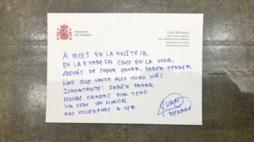 La carta de despedida de Iván Redondo a Pedro Sánchez