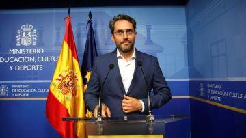 Máximo Huerta, en su etapa como ministro de Educación, Cultura y Deporte