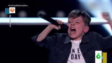 La espectacular actuación rockera del pequeño Jesús del Río que dejó con la boca abierta a todos en La Voz Kids