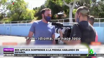 """Ben Affleck sorprende a la prensa hablando español: """"Es muy difícil. Puto idioma"""""""
