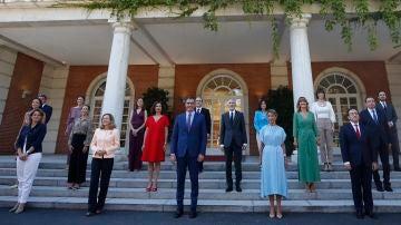 Foto de familia del primer Consejo de Ministros tras remodelación del Gobierno de Pedro Sánchez