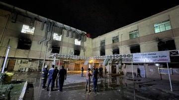 Imagen del lugar donde ha tenido lugar el incidente, en Bagdad