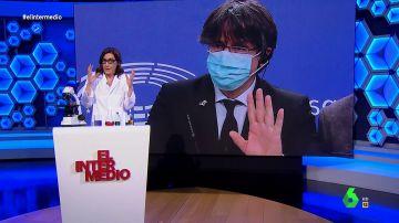 """La indignación de Cristina Gallego con Puigdemont: """"¿Qué tiene que ver el 1 de octubre con el proceso de vacunación?"""""""