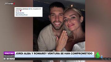 Jordi Alba y Romarey Ventura anuncian su compromiso: así ha sido la pedida de mano