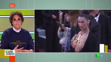 """La reacción de Josie ante el espectacular collar-pulmón de Bella Hadid en Cannes: """"Es que lloro"""""""