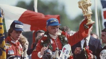 Niki Lauda, ganador del GP de Gran Bretaña de 1982