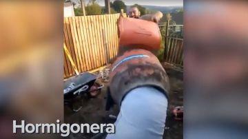 Captura del vídeo de la hormigonera
