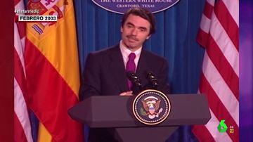 El increíble acento tejano de Aznar en 2003 al dar una comparecencia en México