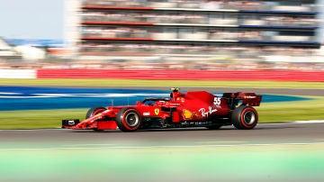 Carlos Sainz en la clasificación al sprint del GP de Silverstone