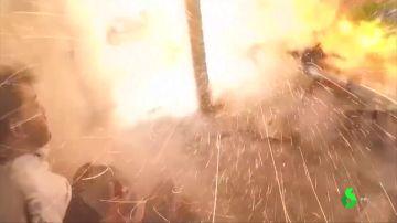 Ataque de las fuerzas en Al Asad en Siria