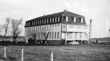 La antigua escuela residencial para niños indígenas Fort Alexander, en Manitoba, Canadá.