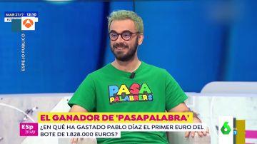 """El increíble cambio de look de Pablo Díaz tras ganar Pasapalabra: """"Fue una apuesta por llevarme el bote"""""""
