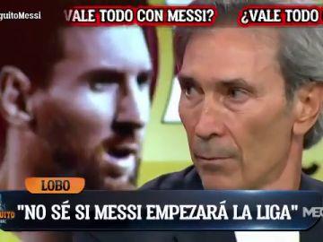 """Lobo Carrasco: """"Es posible que Messi no empiece LaLiga con el Barça"""""""