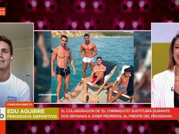 Edu Aguirre habla sobre lo que hizo en sus vacaciones con Cristiano Ronaldo