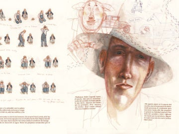 Ilustración de Rébecca Dautremer para 'De ratones y hombres', de John Steinbeck