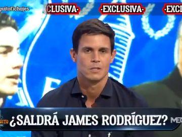 """Edu Aguirre desvela en exclusiva en 'El Chiringuito' la dura charla entre James y Rafa Benítez: """"No cuento contigo"""""""