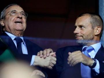 Ceferin y Florentino Pérez