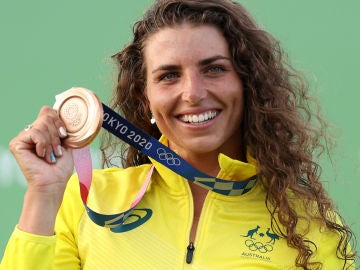Jessica Fox, con la medalla de bronce