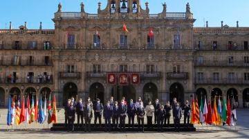 Foto de familia de la Conferencia de Presidentes en Salamanca.