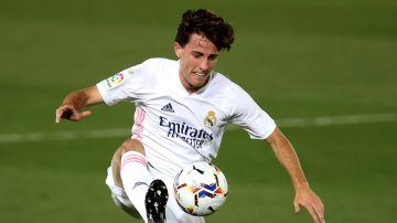 Álvaro Odriozola, con el Real Madrid
