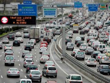 Carretera con tráfico lento