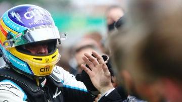 Fernando Alonso, con el equipo Alpine