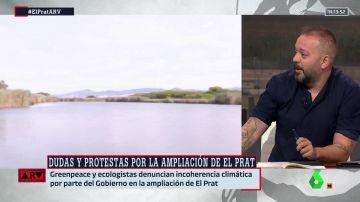 """La crítica de Antonio Maestre a la ampliación de El Prat: """"Es imposible luchar contra la crisis climática trayendo más aviones"""""""
