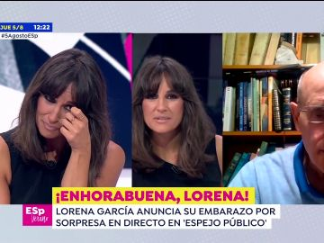 Lorena García desvela entre lágrimas que está embarazada en pleno directo de Espejo Público