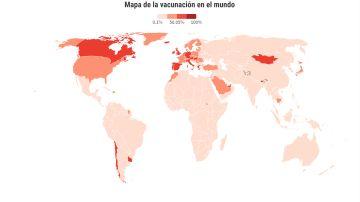 Mapa de la desigualdad de las vacunas: solo un país de África supera el 25% de población con pauta completa