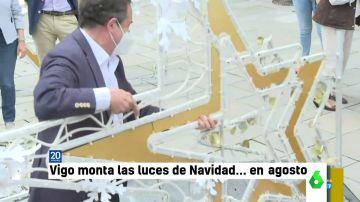 La reacción de Dani Mateo al ver las luces de Navidad de Vigo en pleno agosto