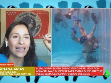 """Tatiana Arias, jugadora de rugby subacuático: """"Cuando tenemos la pelota a veces se nos olvida que tenemos que respirar"""""""