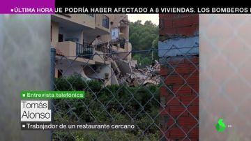 Imagen del derrumbe del edificio de Peñíscola