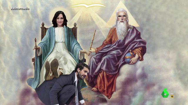 """El papa Wyoming y el monaguillo Mateo analizan a Ayuso en la Iglesia Aznariana: """"Es la nueva mesías del neoliberalismo"""""""