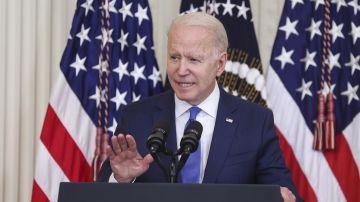 El presidente de los Estados Unidos, Joe Biden, durante una rueda de prensa.