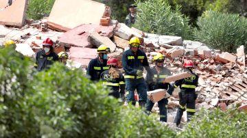El edificio de tres plantas que se ha derrumbado en una urbanización de Peñíscola (Castellón).