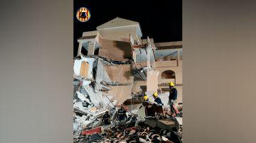 Imagen del edificio de la urbanización Font Nova tras el derrumbe