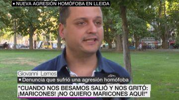 Giovanni Lemes, víctima de una agresión homófoba en Lleida.