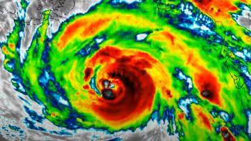 Imagen de satélite del huracán Ida