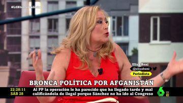 """Elisa Beni: """"De Afganistán nos sacó Rajoy y hay que decir a Casado que Trillo no fue capaz de traer con honor los cadáveres del Yak-42"""""""