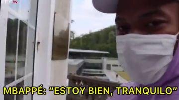 """Mbappé, desde la concentración con Francia: """"Estoy bien, tranquilo"""""""