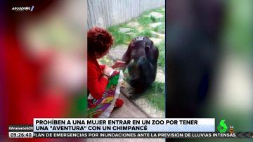 """Un zoológico prohíbe la entrada a una mujer por tener una """"aventura"""" con un chimpancé"""